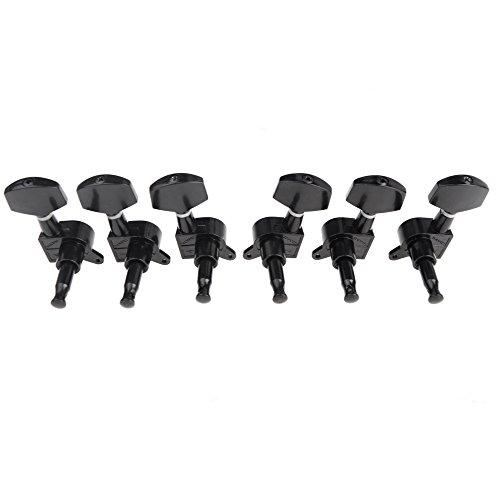 ammoon Sealed Tuning Pegs Tuner Machine Head 3R 3L Elektro / Acoustic Guitar Parts Schwarz