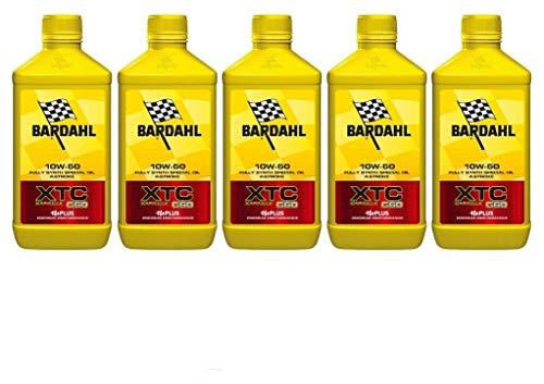 5 litros de aceite de motor Bardahl XTC C60 10W50.