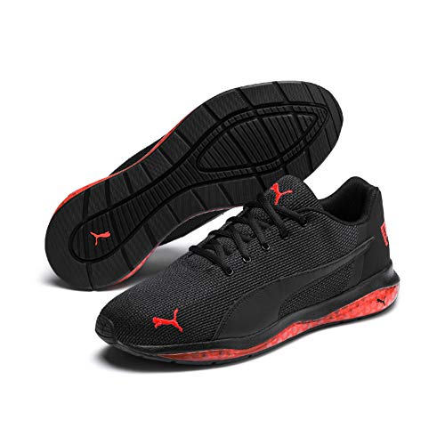 PUMA Herren Cell Ultimate Point Laufschuhe , 43 EU, Black Black High Risk Red