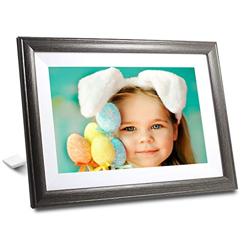 WiFi Digital Picture Frame 10 Inch 16GB Storage Smart Digital Photo Frame IPS Touch Screen HD Display, Auto-Rotate, Dual Speakers Wall-Mountable Digital Frames Share Photos &Videos via Frameo APP