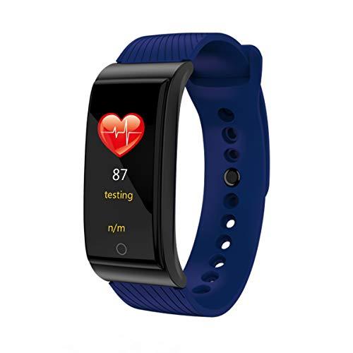 HKPLDE Fitness Tracker/Pantalla táctil Smartwatch Podómetro Calorías para Hombres Mujer Sport para Android e iOS-Azul
