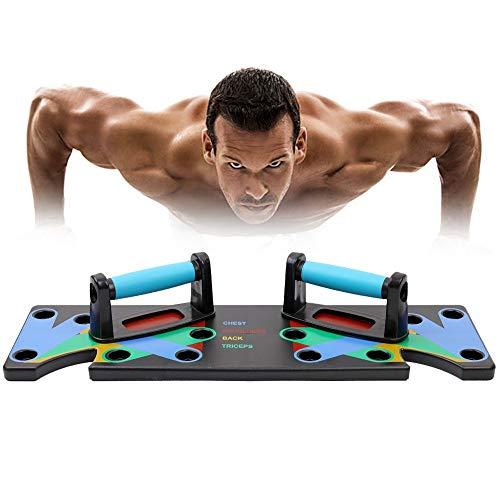 Planche De Pompes 9 en 1 Multifonction Push Up Board Pliable Multifonction Entraînement Musculaire Et La Force Outils pour La Séance D'entraînement Home Fitness