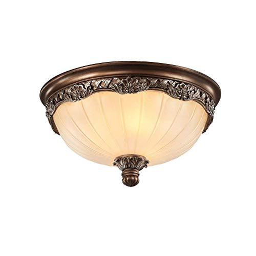 Sunmong Plafoniere Vintage Corpo Lampada in Vetro Smerigliato Intagliato, Montaggio a Incasso soffitto Rustico apparecchio di Illuminazione per Interni casa retrò 3 luci (Dimensioni : A)