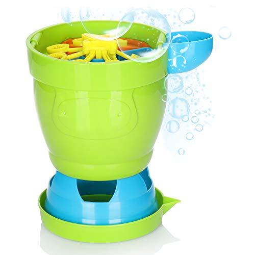 com-four® Máquina de Burbujas de jabón, máquina de Burbujas Que Funciona con baterías para niños, Genera automáticamente Burbujas de jabón, un Gran Juguete de Burbujas de jabón