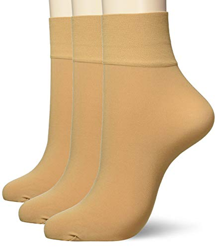[アツギ] ソックス むつ SOCKS (むつソックス) 日本製 引きしめ くるぶし丈 <3足組> レディース FS4070 ヌーディベージュ 22~25cm (FREEサイズ)