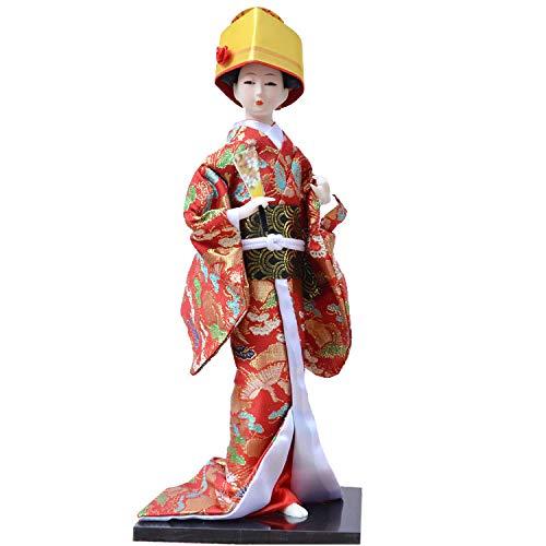 Uziqueif 14 duim Muecas Japonesa mueca Kimono mueca Geisha decoracin del hogar Coleccin de Arte munecas,U