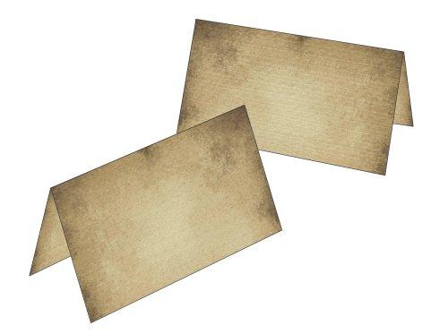 Tafelkaarten/cadeauhangers oud papier 2502 50 Tischkarten
