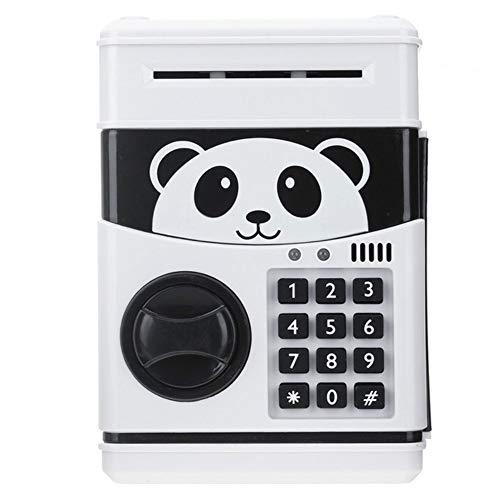 Kassa MYKK Panda Elektronische Spaarpot Atm Wachtwoord Cash Munten Bank Kluis Bankbiljet Kerstcadeau 13 * 12 * 19.5cm Wit