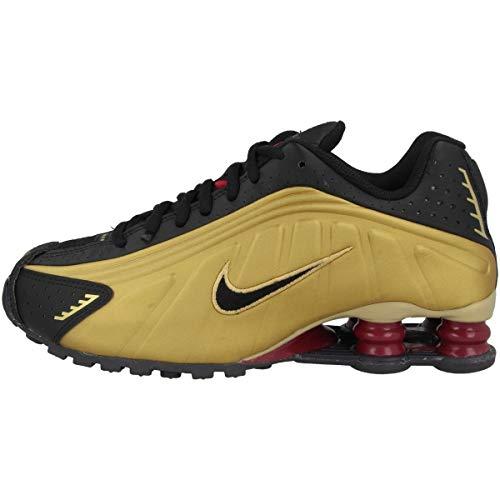 Nike Schuhe Shox R4 Black-Black-matallic Gold-Noble Red (BQ4000-003) 37,5 Schwarz