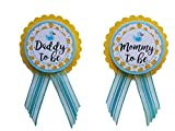 Mommy & Daddy to Be Pin Duck Baby Shower Yellow & Blue It's a Boy, Baby Sprinkle Gender Reveal