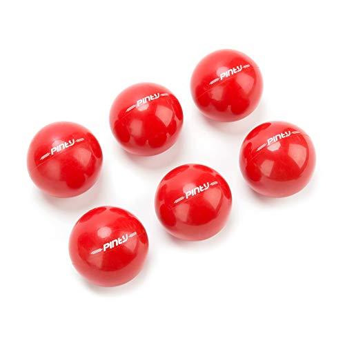 "Pinty 2.8"" Baseball Practice Training Balls, 16oz Weighted Baseballs/Softballs, PVC Shell, Iron Sand Filling - 6-Pack"