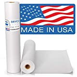 White Kraft Arts and Crafts Paper Roll - 18 inches by 100 Feet (1200 Inch) - Ideal for Paints, Wall Art, Easel Paper, Fadeless Bulletin Board Paper, Gift Wrapping Paper and Kids Crafts - Made in USA
