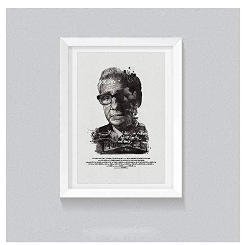 Schwarz Weiß Retro Poster Berühmten Regisseur Martin Scorsese Leinwand Malerei Ungerahmt Drucken Bilder für Zuhause Wohnzimmer Decor-50x70 cm Kein Rahmen