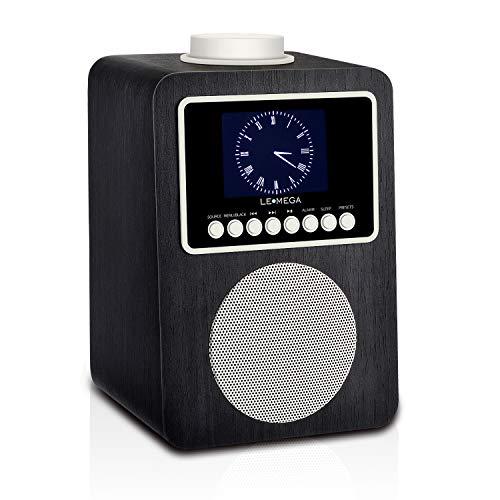 LEMEGA CR2 Dab + et FM Radio numérique avec Bluetooth, Aux, USB, Double Alarme et écran Couleur TFT - Noir