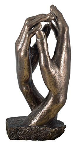 Veronese Figur Die Kathetrale Auguste Rodin 1908 Replik Statue Skulptur bronziert Hände