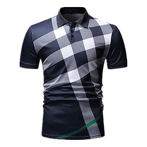 N\P Camisa de los hombres del verano del patrón de cuadros
