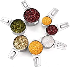 Toppart Set of 7 stainless steel measuring cup baking tools, seasoning spoon measuring cup measuring spoon with scale, 7 s...