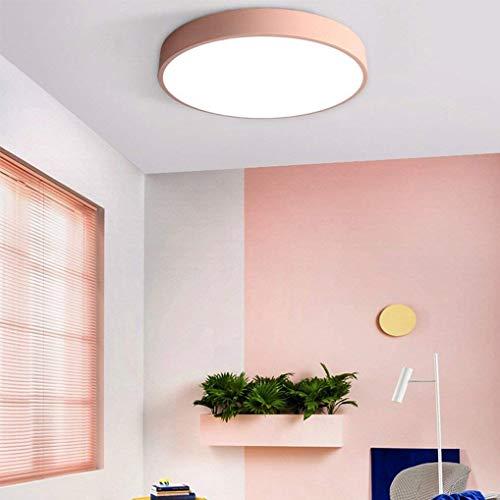 XXYHYQHJD 24W LED de Techo Metal Rosa lámpara de Techo lámpara de Techo Regulable Hermoso jardín de Infancia Arte de la lámpara de los 40CM (luz Blanca) Colgante de luz