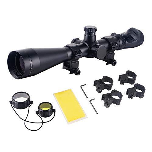 FOCUHUNTER Zielfernrohr Luftgewehr 3.5-10X50mm Softair Scharfschütze Zielfernrohr Rot Illuminated Absehen mit 20mm/11mm Montage, für Armbrust Gewehr Jagd