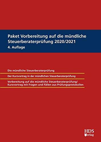Paket Vorbereitung auf die mündliche Steuerberaterprüfung 2020/2021