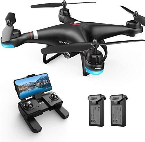 Holy Stone HS110G GPS FPV Drohne mit 1080P HD Live Videokamera für Erwachsene und Kinder, RC Quadcopter mit GPS Auto Return Home, Höhenhaltung und Follow Me Modus, Lange Flugzeit, Einfach für Anfänger