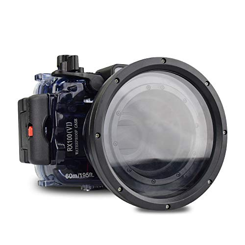 Sea frogs para Sony DSC-RX100 VI 60m / 195ft Carcasa de cámara subacuática