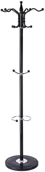 Coat Rack Round Base Heavy Duty Metal Free Standing Display Hat Jacket Hanger Scarves Handbags Umbrella Holder Home Entryway Hall Coat Tree Rack With Silica Gel Base 12 Hooks 15 Hooks