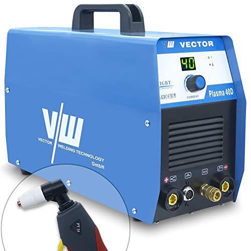VECTOR Taglio al Plasma con 40 Ampere e Accensione a Contatto, Taglia fino a 12 mm, Macchina Tagliatrice al Plasma