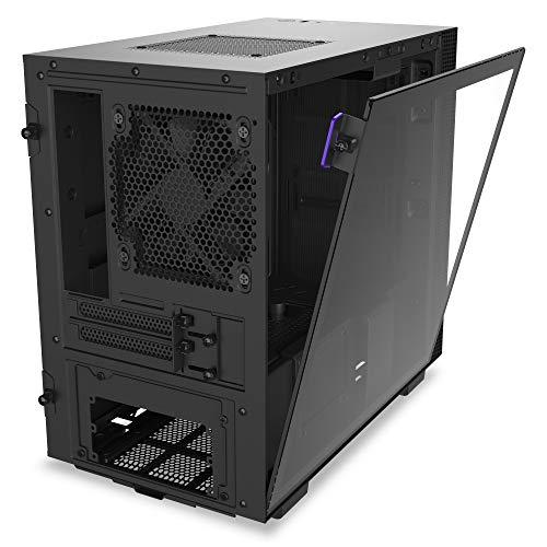 NZXT H210 - Case da gioco per PC Mini-ITX - Porta Tipo C USB I/O frontale - Pannello laterale in vetro temperato - Compatibile con il raffreddamento a Liquido - Staffa per il radiatore