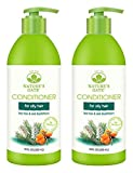 Nature's Gate Tea Tree and Sea Buckthorn Calming Conditioner (Pack of 2) With Safflower, Tea Tree, Jojoba, Borage, Balm Mint, Matricaria, Nettle, Rosemary, Hops and Watercress, 18 Fl. Oz. Each