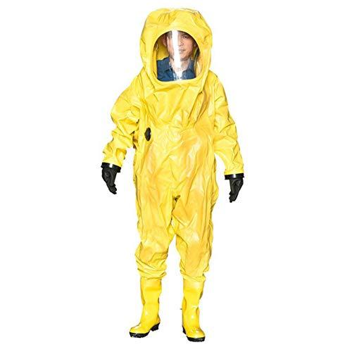 Heatile Schutzanzug Sicher und langlebig Staubdicht Antistatisch Geeignet für den Umgang mit chemischen Gefahrgütern, ätzenden Stoffen, Dampf usw (Ohne Gasmaske)