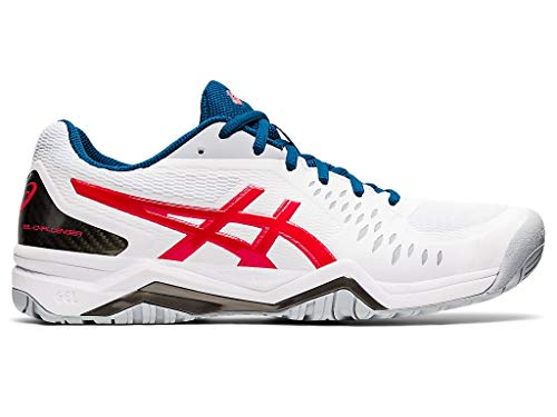ASICS Men's Gel-Challenger 12 Tennis Shoes, 9M, White/Classic RED
