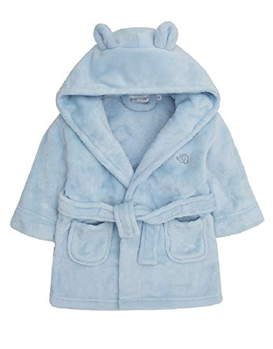 Babies kuscheln Fleece-Bademantel (6-12 Monate, Blau)