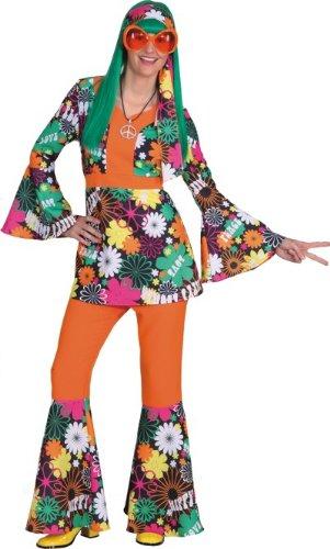 Damenanzug Blumenwiese Kasak,Hose Kostüm , Größe:44-46