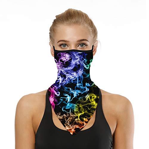 HONYAR Bandana Herren, Unisex Nahtlose Bandana Damen mit Ohrbügel - Bandana für Staubschutz im Freien Sport - Atmungsaktives weiches Material Anti-UV