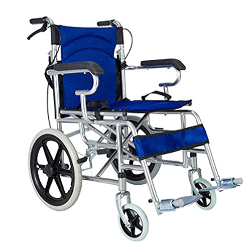 Transport Wheelchair - Foldable, Lightweight, Ultra-Light, Elderly Small Travel Portable Handicapped Scooter Trolley Easy to Operate (Color : Orange)