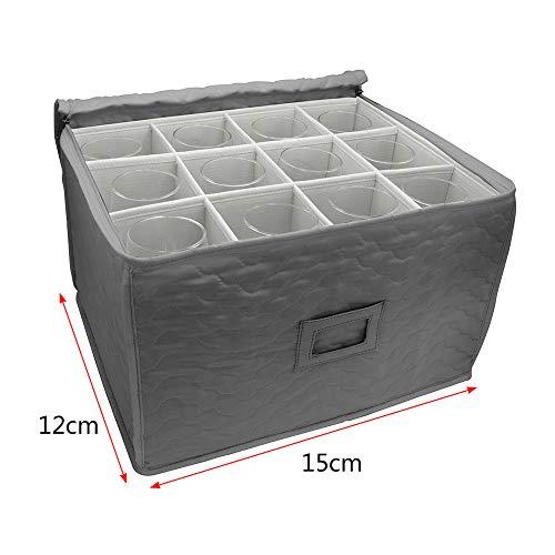 hauteur max 250/mm Box Ref 24/cellules /Verrerie de stockage Caisse 24-e-fba Verre ou de larticle Largeur maximale 81/mm Euro Caisse avec compartiments internes/ Gj-250 Glassjacks