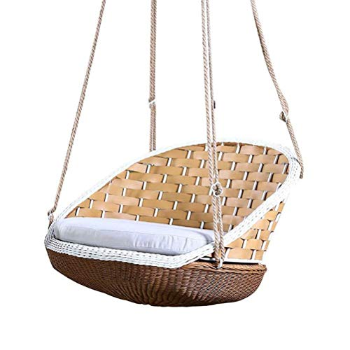 LQJYXD Hocker Casual Rattan Hängesessel Adult Indoor Hängekorb Swing Nest Balkon Lazy Outdoor Garden Cradle Chair