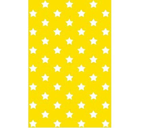Klebefolie - Möbelfolie Stars - Sterne gelb - 45 cm x 200 cm moderne Selbstklebefolie Folie Dekorfolie mit Motiv