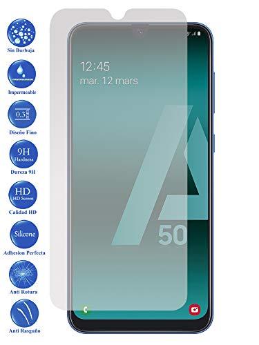 Todotumovil Protector de Pantalla Samsung Galaxy A50 2019 de Cristal Templado Vidrio 9H para movil