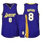 CHYSJ Kobe # 8 Jersey, Lakers Summer Sportswear, Incluyendo Pantalones Cortos, Juegos de Juegos Deportivos, Uniformes de Baloncesto, Ropa Deportiva M
