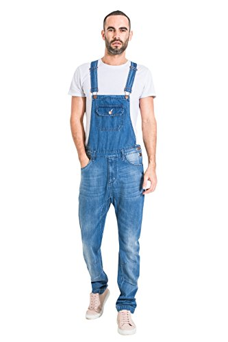 USKEES Latzhose, Skinny Fit - Lightwash Denim Overalls Slim Leg Jean Herren JESSE2NEWLIGHT-30W