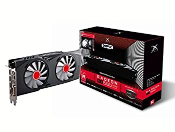 XFX RX-580P8DFWR GTR Radeon RX 580 8GB XXX Edition 1366 Mhz OC 1386Mz Boost Overclock Graphics Core GDDR5 White LED Hardswap Replacement Fan Technology with 3 x DP 1 x HDMI 1 x DVI PCI-E Video Card