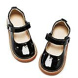 Kiderence Girls Flat Dress Shoes School Oxfords Marry Jane Black (Toddler 6/Little Kids)
