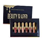 Weixinbuy [6 piezas / set] Lápiz labial líquido mate de larga duración, resistente al agua, set de regalo de maquillaje [#1]