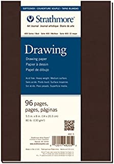 مجلة رسم فنية بغلاف ناعم ستراتمور 482-7-1. 19.6 سم × 24.7 سم، كريم، 48 ورقة