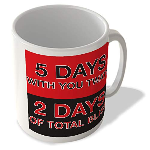McMug 5 Days With You Twats - 2 Days of Total Bliss - Red - Mug