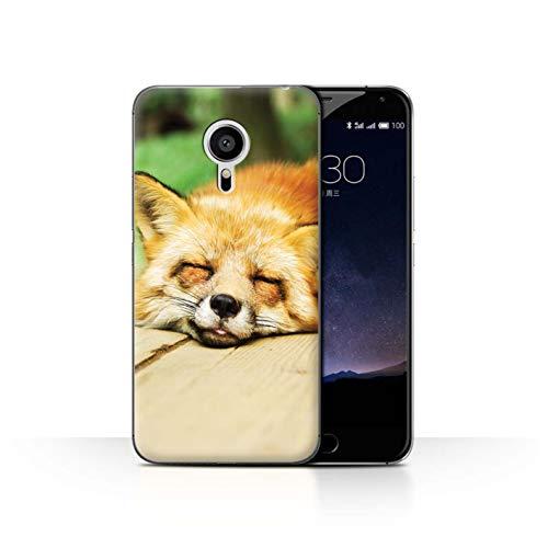 Handy Hülle kompatibel mit Meizu Pro 5 Süß Baby Tier Fotos Roter Fuchs Schläfrig Transparent Klar Ultra Dünne Handyhülle Hülle Cover