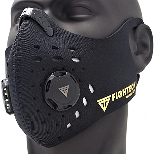 FIGHTECH Dust Mask   Reusable Face Mask with Filter   Air Filtration Mask with Vent   Dust Mask Woodworking (Medium, Black)