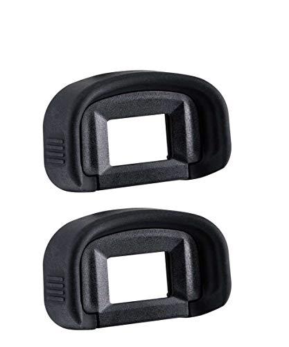 KOMET - Mirino oculare in gomma per fotocamere Canon EOS Rebel 5D Mark III, 7D, 7D Mark 2, 1D X, 1D C, 1D Mark III/IV, 1Ds Mark III sostituisce Canon Eyecup EG (confezione da 2)